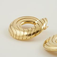 Cartier Cartier Paris Late 20th Century Gold Hoop Earrings - 1170475