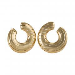 Cartier Cartier Paris Late 20th Century Gold Hoop Earrings - 1171298