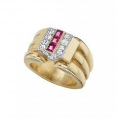 Cartier Cartier Paris Retro Diamond Ruby and Gold Ring - 934970