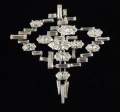 Cartier Cartier Signed Platinum Diamond Mid Century Comet Pin - 1788063