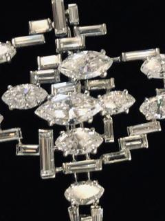 Cartier Cartier Signed Platinum Diamond Mid Century Comet Pin - 1788084