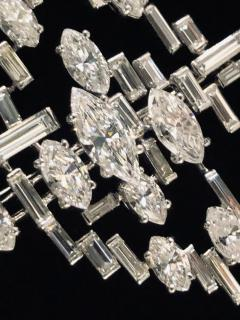 Cartier Cartier Signed Platinum Diamond Mid Century Comet Pin - 1788086