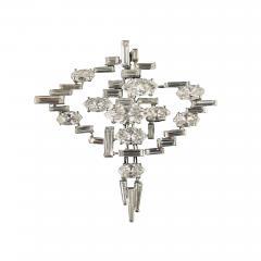 Cartier Cartier Signed Platinum Diamond Mid Century Comet Pin - 1791230