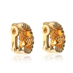 Cartier Cartier Symbols Hearts Diamond Hoop Earring in 18K Yellow Gold 0 50 CTW - 2058560