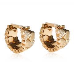 Cartier Cartier Symbols Hearts Diamond Hoop Earring in 18K Yellow Gold 0 50 CTW - 2058570