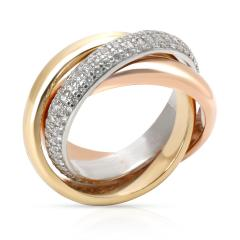 Cartier Cartier Trinity Classic Diamond Ring in 18K Yellow White Rose Gold Size 49  - 1286817