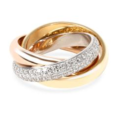 Cartier Cartier Trinity Classic Diamond Ring in 18K Yellow White Rose Gold Size 49  - 1286818