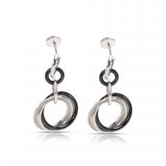 Cartier Cartier Trinity Diamond Ceramic Drop Earrings in 18K Gold Platinum 0 47 CTW - 1309352