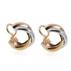 Cartier Cartier Trinity Hoop Earring in 18K 3 Tone Gold - 2058673