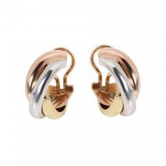 Cartier Cartier Trinity Hoop Earring in 18K 3 Tone Gold - 2063999