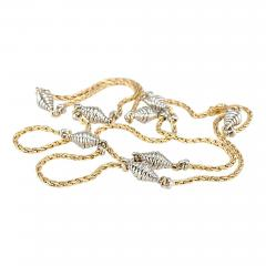 Cartier Cartier Yellow and White Gold Chain Necklace - 181565
