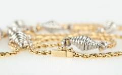 Cartier Cartier Yellow and White Gold Chain Necklace - 181566