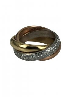 Cartier Cartier classic trinity ring with diamonds - 1474396