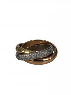 Cartier Cartier classic trinity ring with diamonds - 1474397