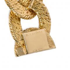 Cartier Georges LEnfant Cartier 1960s Gold Curb Link Bracelet Box and Certificate - 1898201
