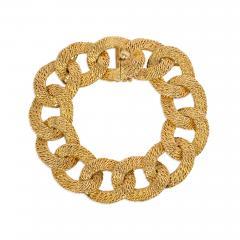 Cartier Georges LEnfant Cartier 1960s Gold Curb Link Bracelet Box and Certificate - 1898727