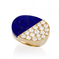 Cartier Gold Ring with Diamonds and Lapis Lazuli by Cartier - 1227748