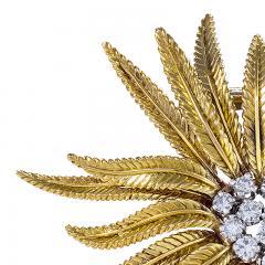 Cartier Gold and Diamond Flower Brooch by Cartier - 1049213