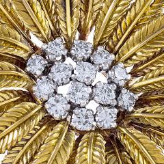 Cartier Gold and Diamond Flower Brooch by Cartier - 1049215