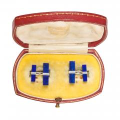 Cartier Lapis Cufflinks - 101240