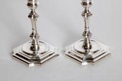 Cartier Pair of George II Style Sterling Silver Candlesticks by Cartier - 2003092