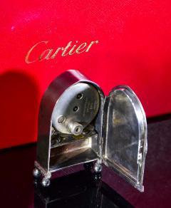 Cartier Rare 1900 1910 Cartier Enamel Forget Me Knot Motif Dome Clock - 1107727