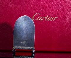 Cartier Rare 1900 1910 Cartier Enamel Forget Me Knot Motif Dome Clock - 1107729