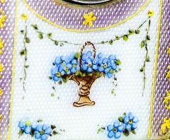Cartier Rare 1900 1910 Cartier Enamel Forget Me Knot Motif Dome Clock - 1107730