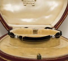 Cartier Rare 1920s Cartier Art Deco Platinum Pave Diamond Set Enamel Cord Cocktail Watch - 431646