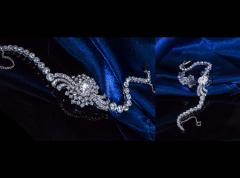 Cartier Rare 1940s 1950s Cartier Platinum Concealed Diamond Spray Motif Bracelet Watch - 1078908