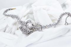 Cartier Rare 1940s 1950s Cartier Platinum Concealed Diamond Spray Motif Bracelet Watch - 1078919