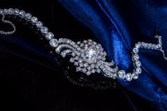 Cartier Rare 1940s 1950s Cartier Platinum Concealed Diamond Spray Motif Bracelet Watch - 1078921