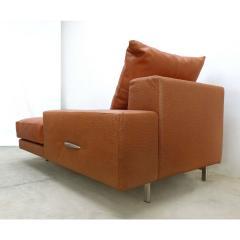 Casa Tonino Lamborghini Lamborghini Pilot Collection Sofa in Leather Ostrich Suede - 1058612