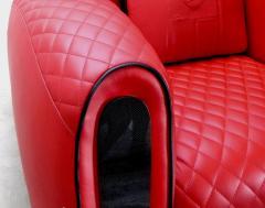 Casa Tonino Lamborghini Tonino Lamborghini Carbon Imola Leather Armchair by Formitalia - 1142430