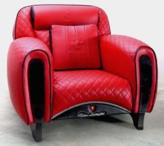 Casa Tonino Lamborghini Tonino Lamborghini Carbon Imola Leather Armchair by Formitalia - 1142432