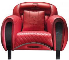 Casa Tonino Lamborghini Tonino Lamborghini Carbon Imola Leather Armchair by Formitalia - 1142438