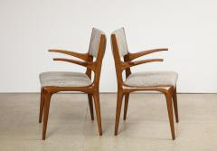 Cassina 8 Arm Chairs by Carlo DeCarli  - 1742676