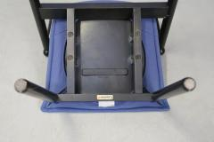 Cassina Cassina chairs blue set of four in black lacquered wood Post Modern 1980s - 1255792