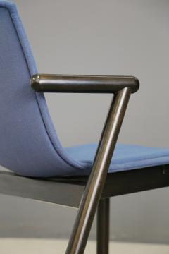 Cassina Cassina chairs blue set of four in black lacquered wood Post Modern 1980s - 1255796