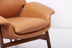 Cassina Lounge Chairs Model 849 by Gianfranco Frattini in Leather Italy 1950s - 1700995