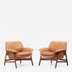 Cassina Lounge Chairs Model 849 by Gianfranco Frattini in Leather Italy 1950s - 1703266