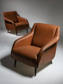 Cassina Pair of 802 Armchairs by Carlo De Carli for Cassina - 1488645
