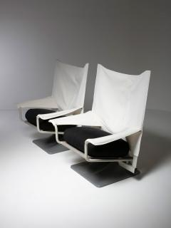 Cassina Pair of Aeo Lounge Chairs by Archizoom for Cassina - 1186739