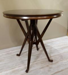 Cassina Pair of Cassina 1950s Italian Wood And Glass Circular Side or End Tables - 768839