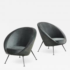 Cassina Rare Pair of Egg Chairs model no 813 by Ico Luisa Parisi - 1743431