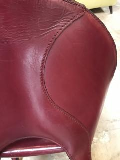 Cassina Set of 10 Dining Leather Chairs for Cassina Studio Italy 1970s - 1577802