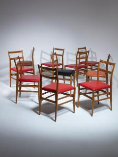 Cassina Set of 10 Leggera Chairs by Gio Ponti for Cassina - 1565864