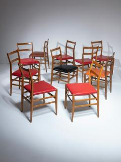 Cassina Set of 10 Leggera Chairs by Gio Ponti for Cassina - 1565865