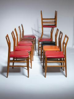 Cassina Set of 10 Leggera Chairs by Gio Ponti for Cassina - 1565867