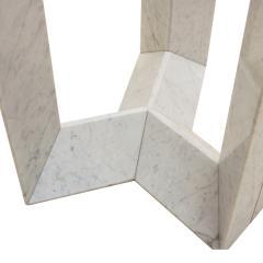 Cattelan Italia Cattelan Italia Carrara Marble and Smoked Glass Italian Table - 1979266